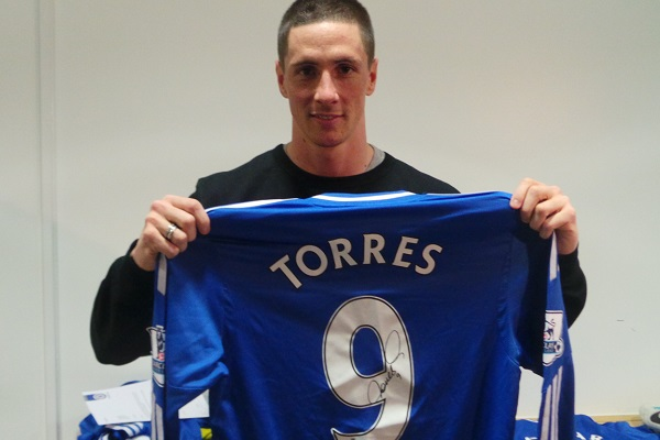 reputable site 21754 496b9 Chelsea FC Auctions - Fernando Torres signed match worn ...